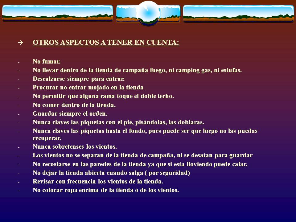 OTROS ASPECTOS A TENER EN CUENTA: