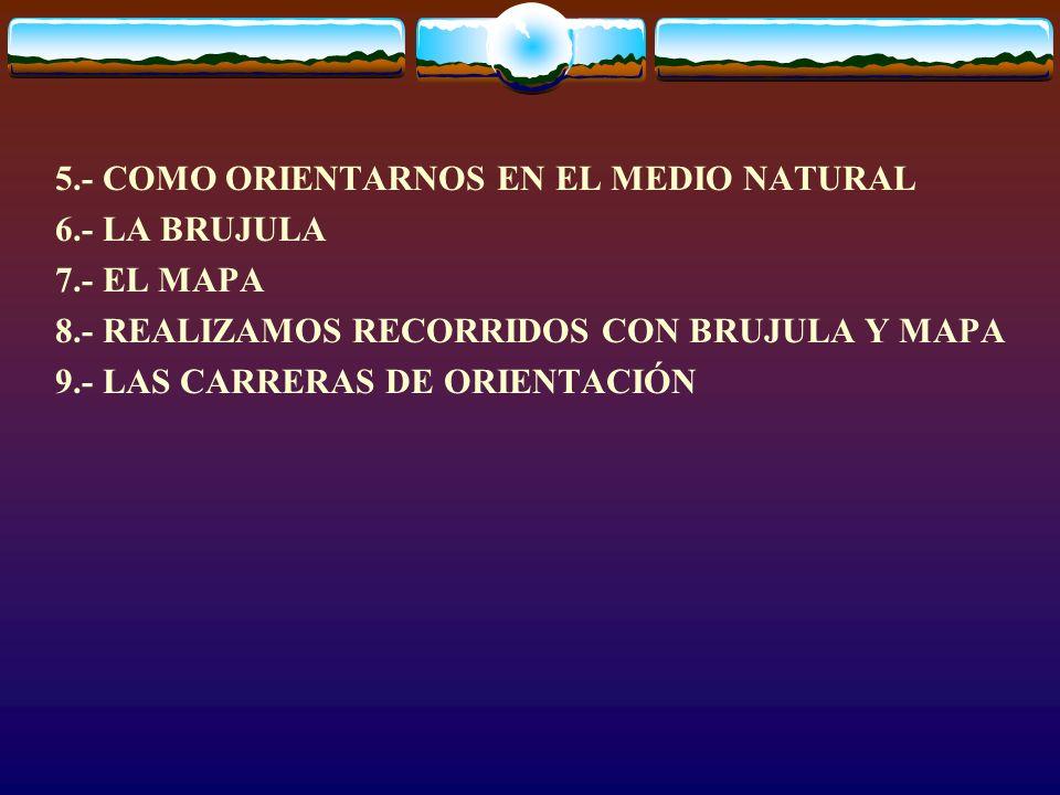 5.- COMO ORIENTARNOS EN EL MEDIO NATURAL