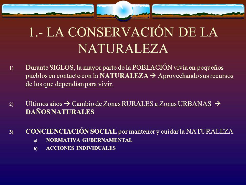 1.- LA CONSERVACIÓN DE LA NATURALEZA