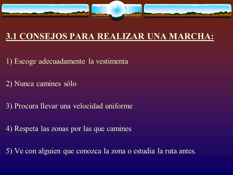 3.1 CONSEJOS PARA REALIZAR UNA MARCHA: