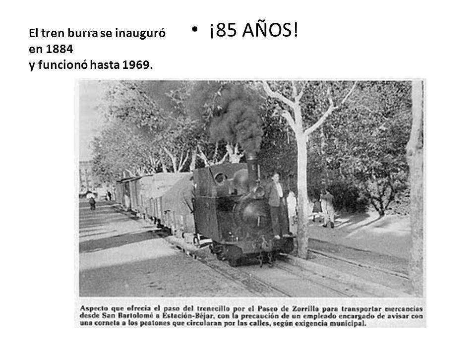 El tren burra se inauguró en 1884 y funcionó hasta 1969.