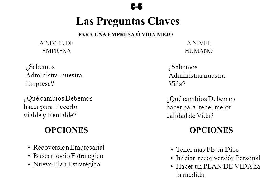 Las Preguntas Claves C-6 OPCIONES OPCIONES