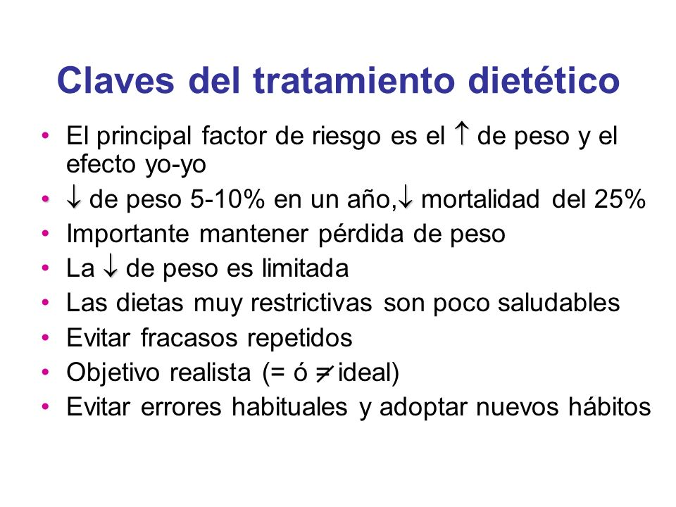 Claves del tratamiento dietético