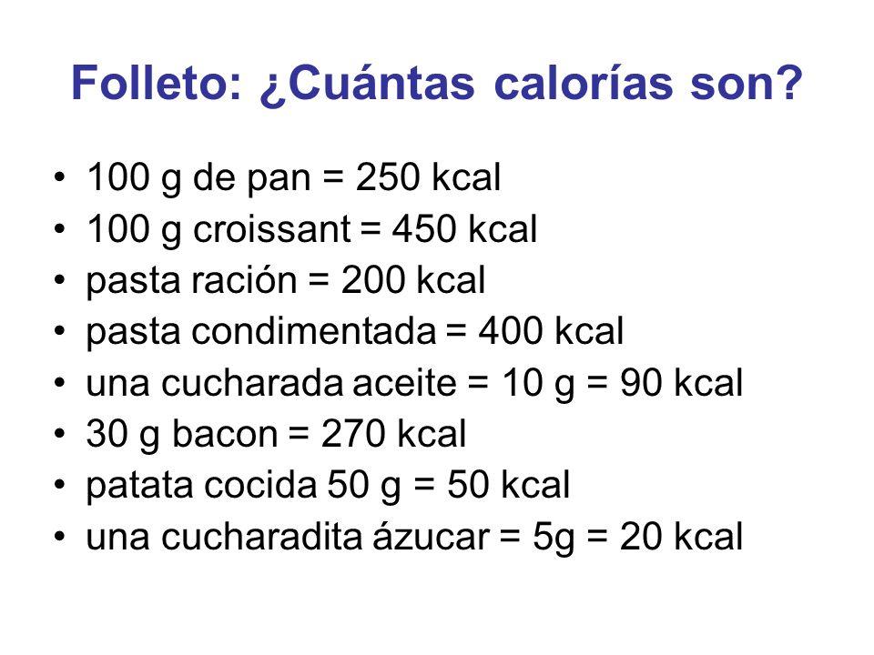 Folleto: ¿Cuántas calorías son