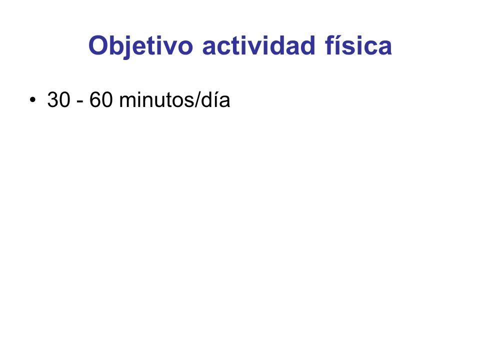 Objetivo actividad física