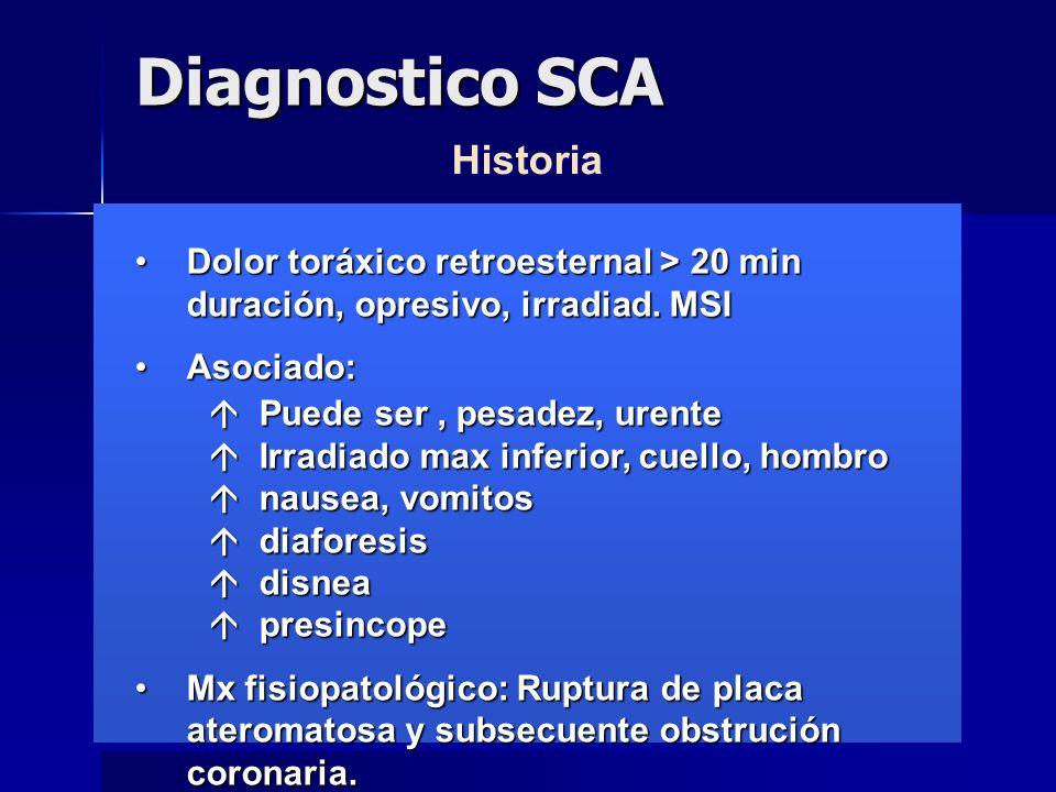 Diagnostico SCA Historia