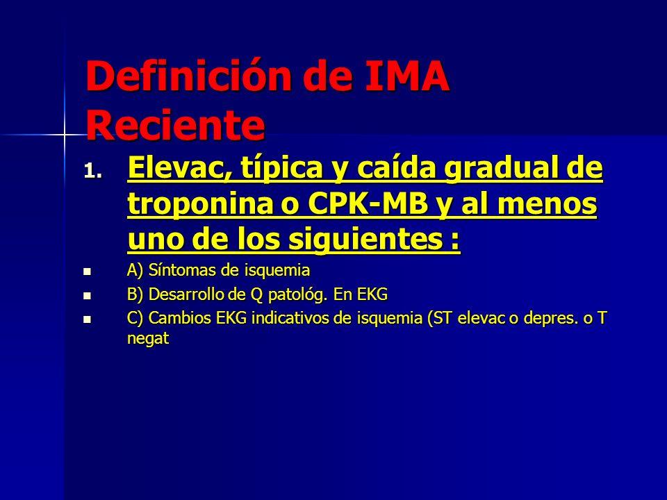 Definición de IMA Reciente
