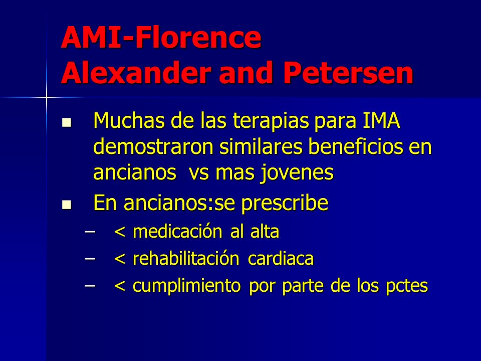 AMI-Florence Alexander and Petersen