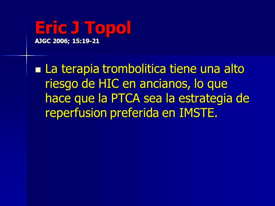 Eric J Topol AJGC 2006; 15:19-21