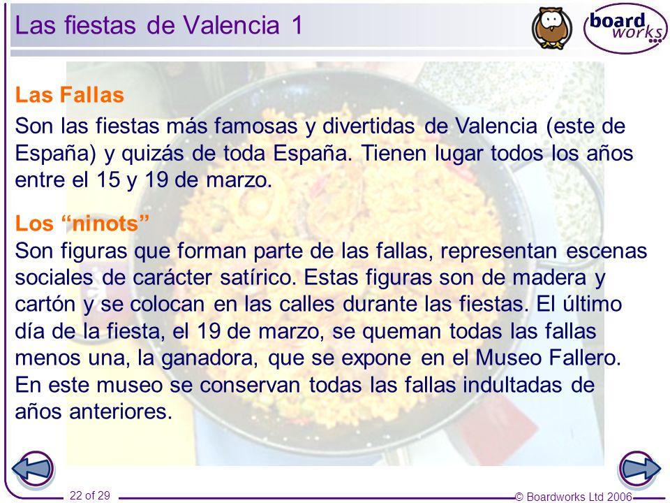 Las fiestas de Valencia 1