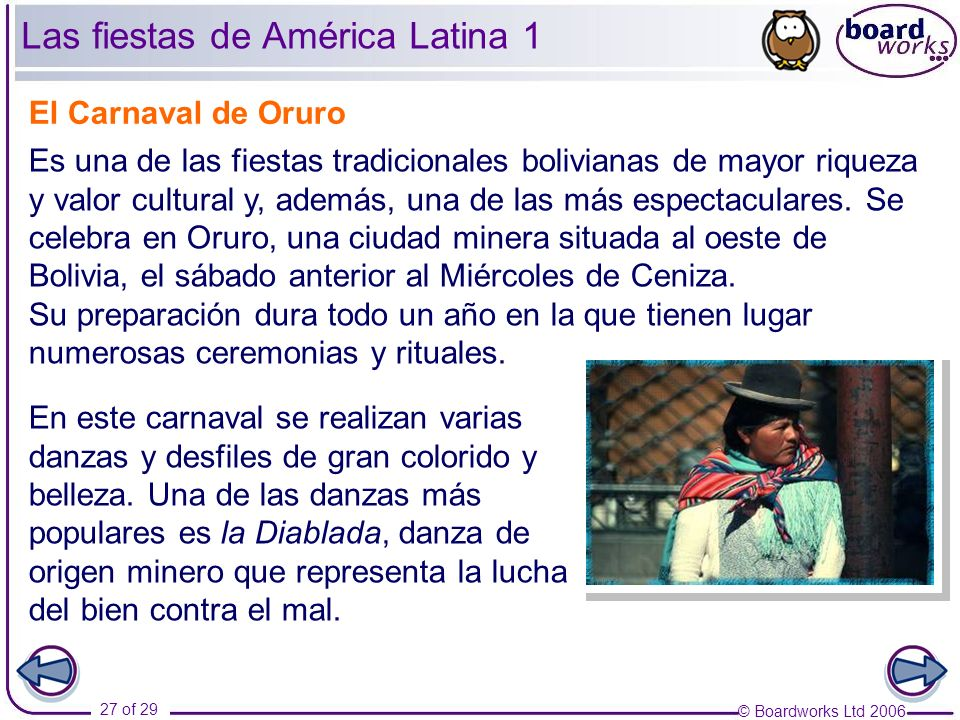 Las fiestas de América Latina 1