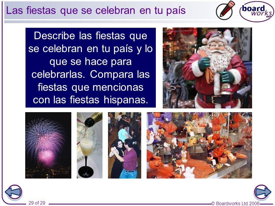 Las fiestas que se celebran en tu país