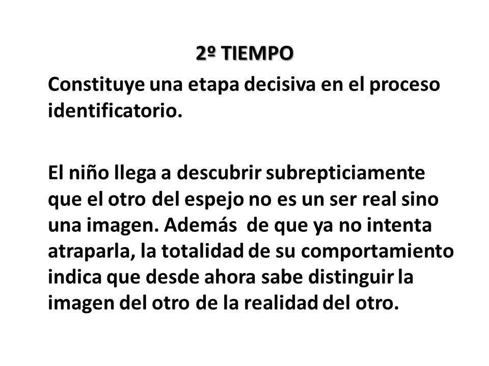 2º TIEMPO Constituye una etapa decisiva en el proceso identificatorio