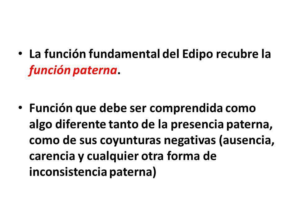 La función fundamental del Edipo recubre la función paterna.