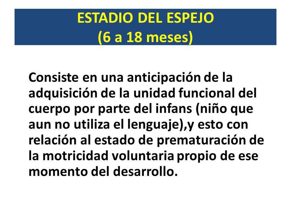 ESTADIO DEL ESPEJO (6 a 18 meses)