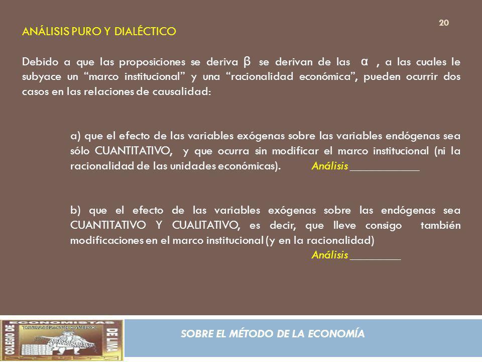 ANÁLISIS PURO Y DIALÉCTICO