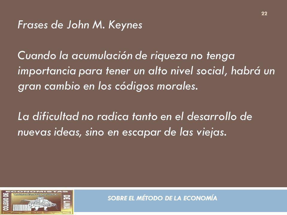 Frases de John M. Keynes
