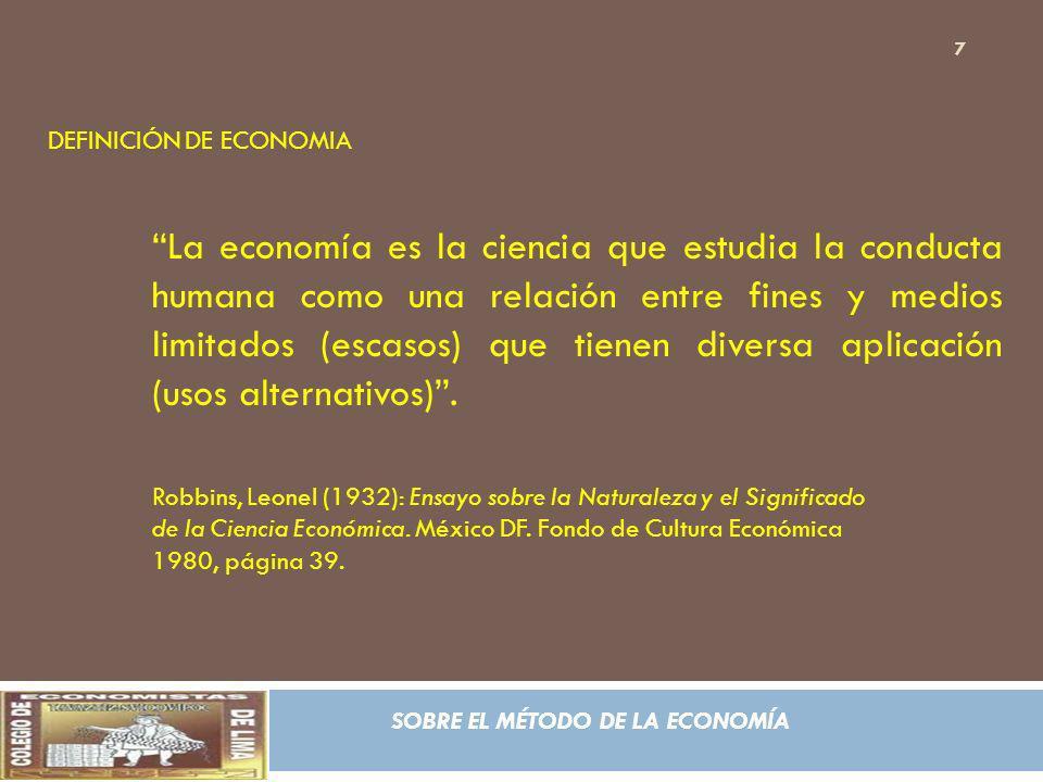 DEFINICIÓN DE ECONOMIA