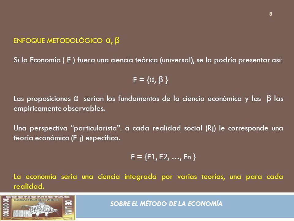 ENFOQUE METODOLÓGICO α, β