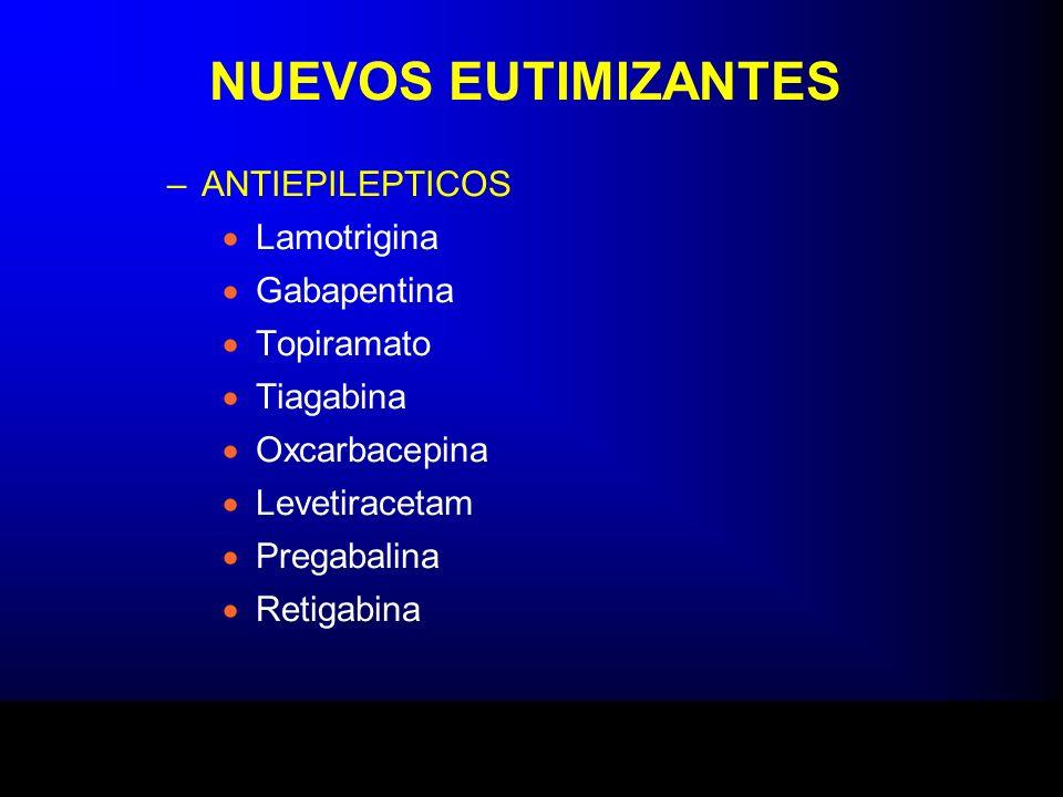 NUEVOS EUTIMIZANTES ANTIEPILEPTICOS Lamotrigina Gabapentina Topiramato