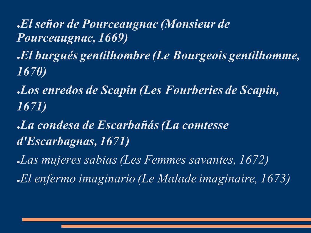 El señor de Pourceaugnac (Monsieur de Pourceaugnac, 1669)