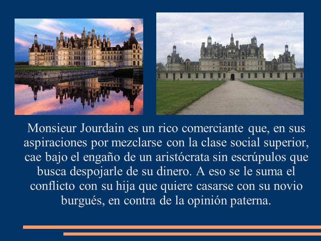 Monsieur Jourdain es un rico comerciante que, en sus aspiraciones por mezclarse con la clase social superior, cae bajo el engaño de un aristócrata sin escrúpulos que busca despojarle de su dinero.