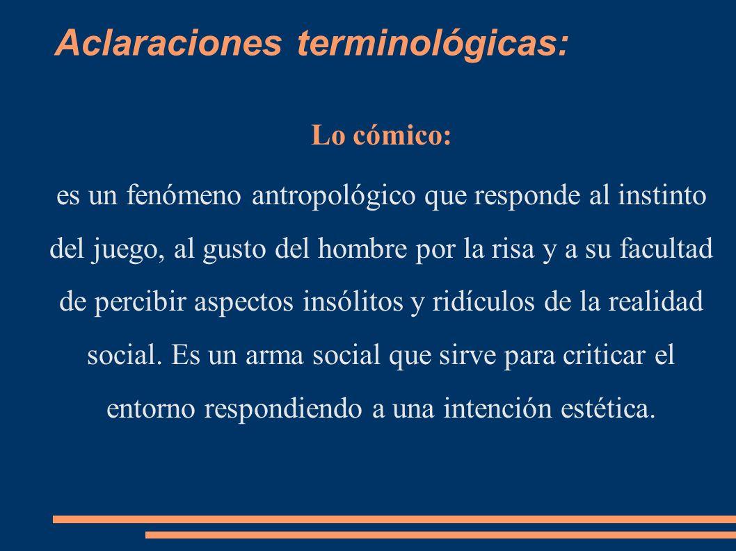 Aclaraciones terminológicas: