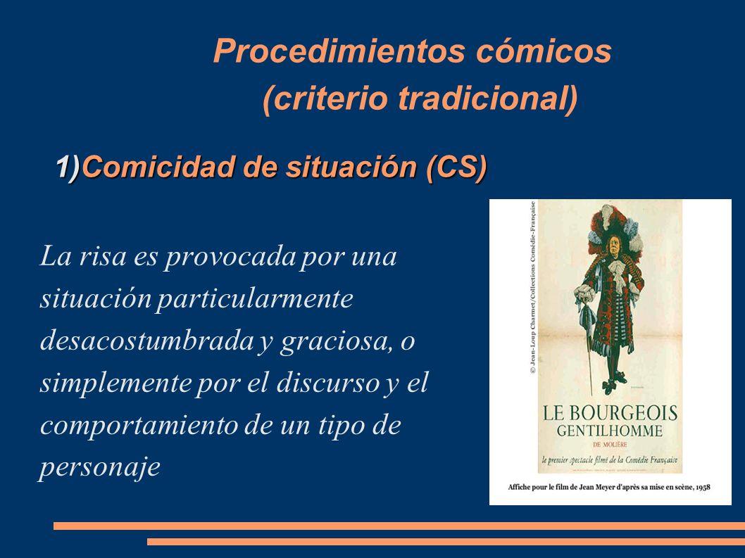 Procedimientos cómicos (criterio tradicional)