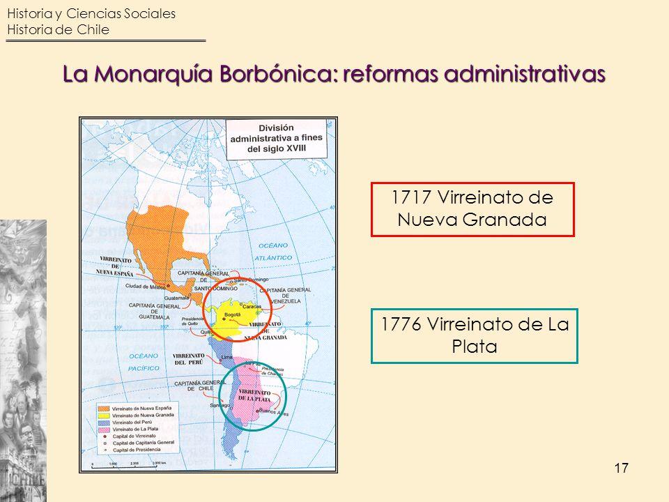 1717 Virreinato de Nueva Granada