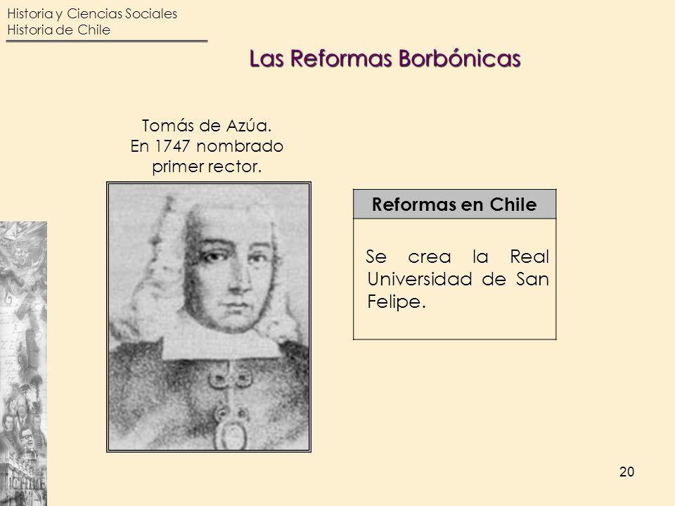 En 1747 nombrado primer rector.