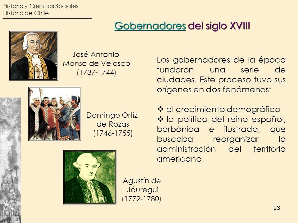 Gobernadores del siglo XVIII