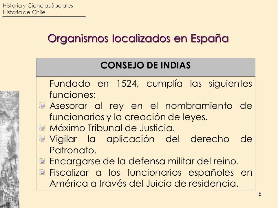 Organismos localizados en España