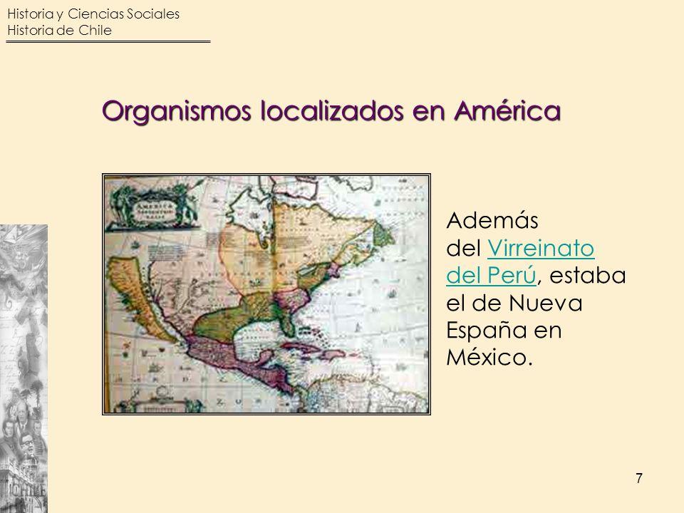 Organismos localizados en América