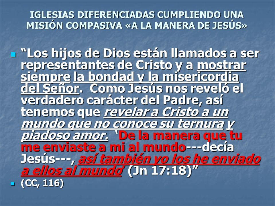 IGLESIAS DIFERENCIADAS CUMPLIENDO UNA MISIÓN COMPASIVA «A LA MANERA DE JESÚS»