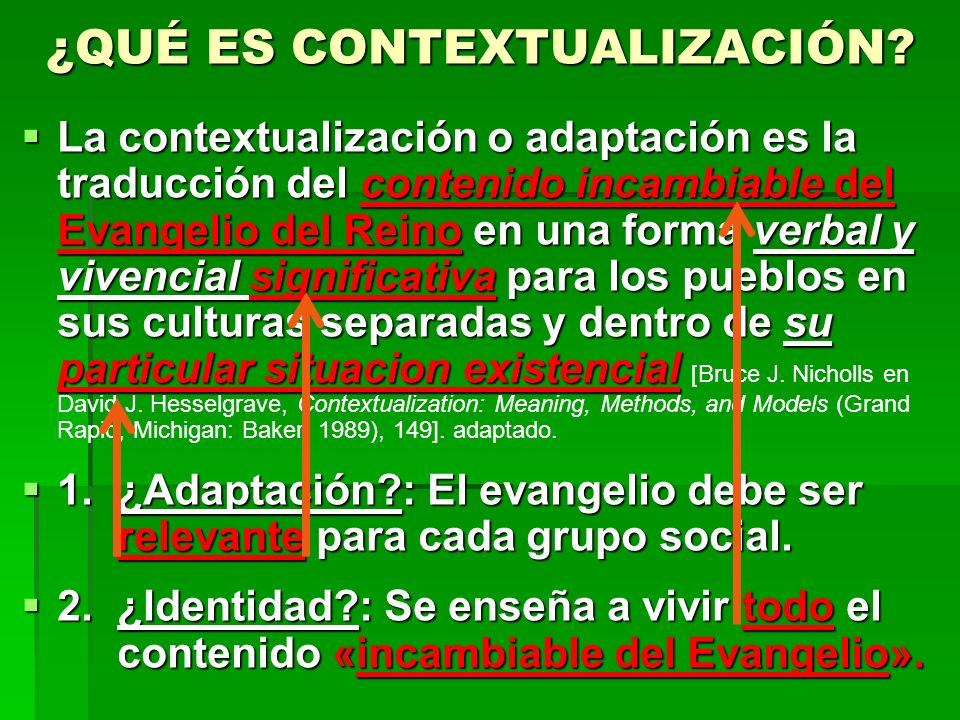 ¿Qué es contextualización