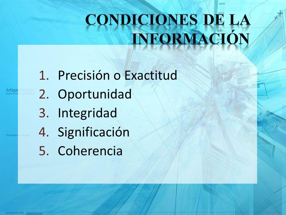 Condiciones de la Información