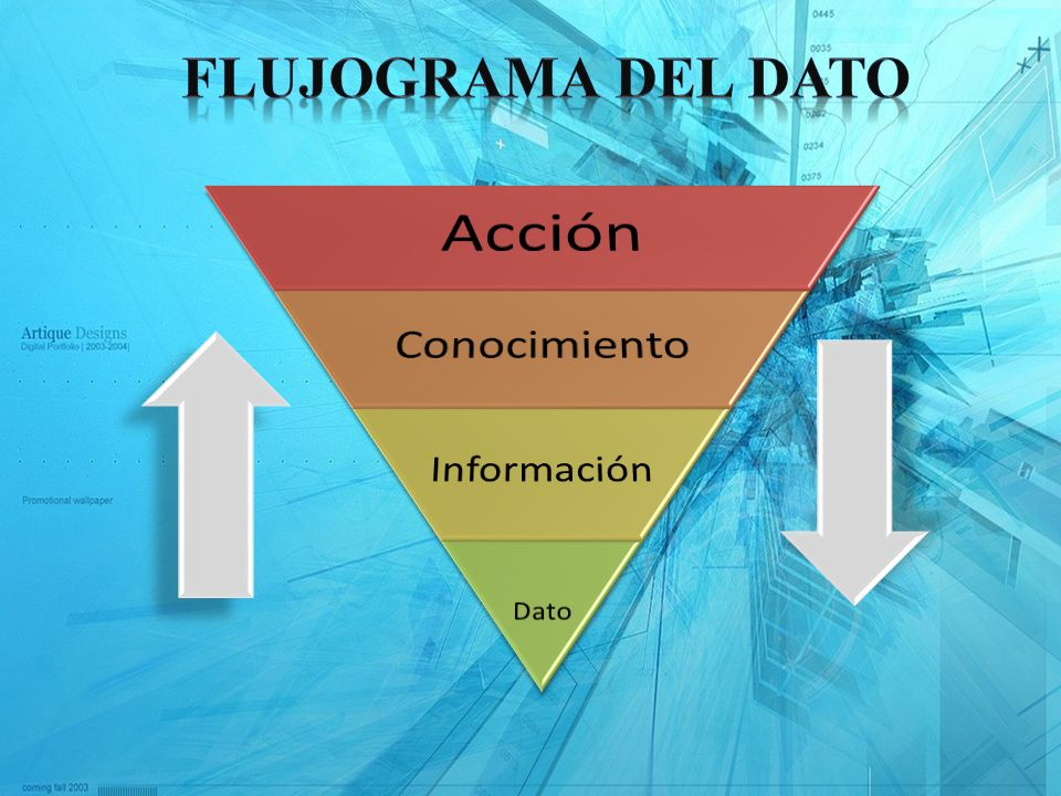 Flujograma del Dato Acción Conocimiento Información Dato
