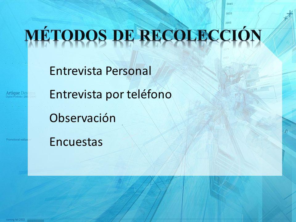 Métodos de recolección
