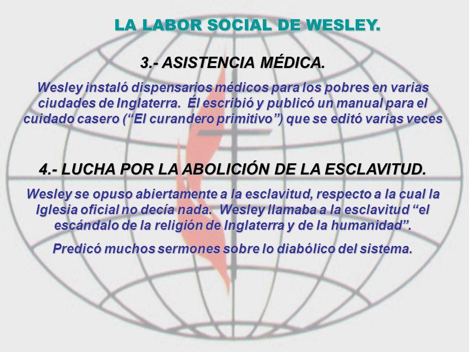 LA LABOR SOCIAL DE WESLEY.
