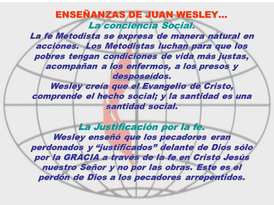 ENSEÑANZAS DE JUAN WESLEY…