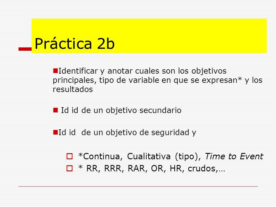 Práctica 2b *Continua, Cualitativa (tipo), Time to Event
