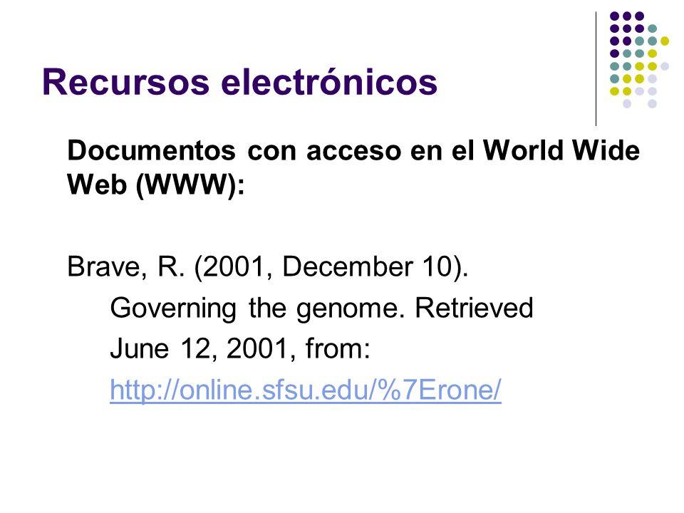 Recursos electrónicos