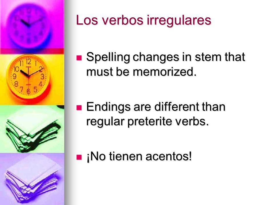Los verbos irregulares