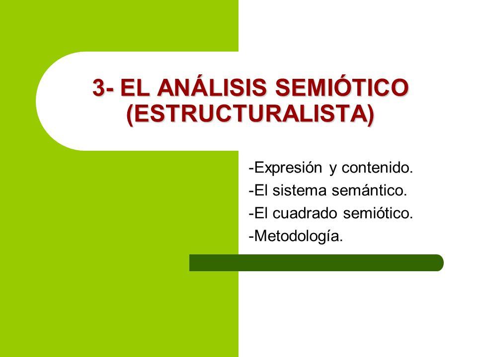 3- EL ANÁLISIS SEMIÓTICO (ESTRUCTURALISTA)