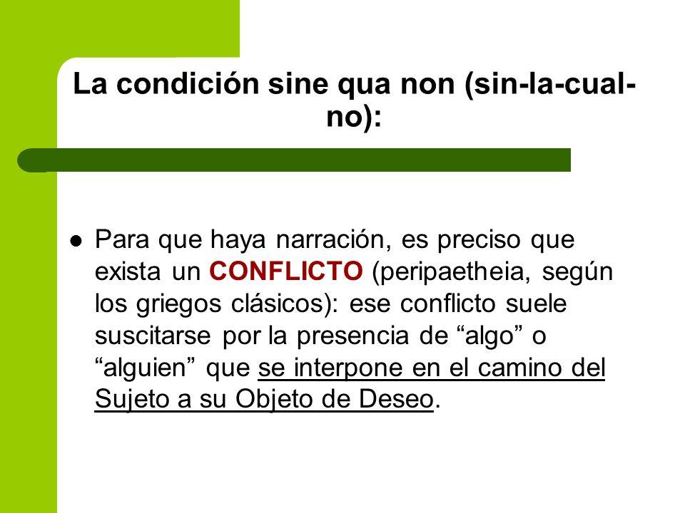 La condición sine qua non (sin-la-cual-no):