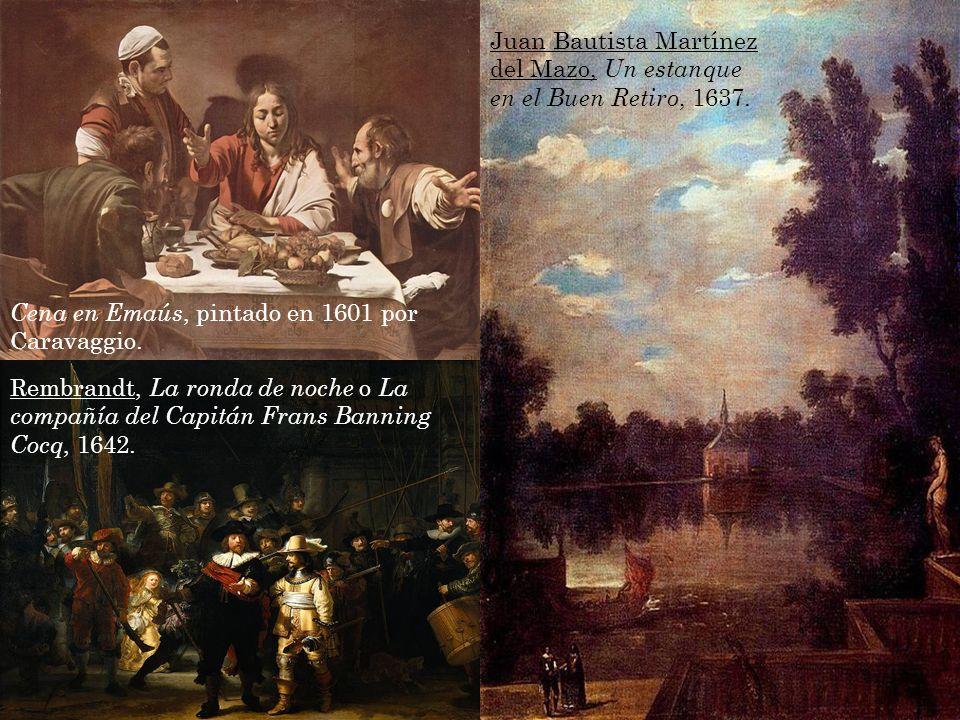 Juan Bautista Martínez del Mazo, Un estanque en el Buen Retiro, 1637.