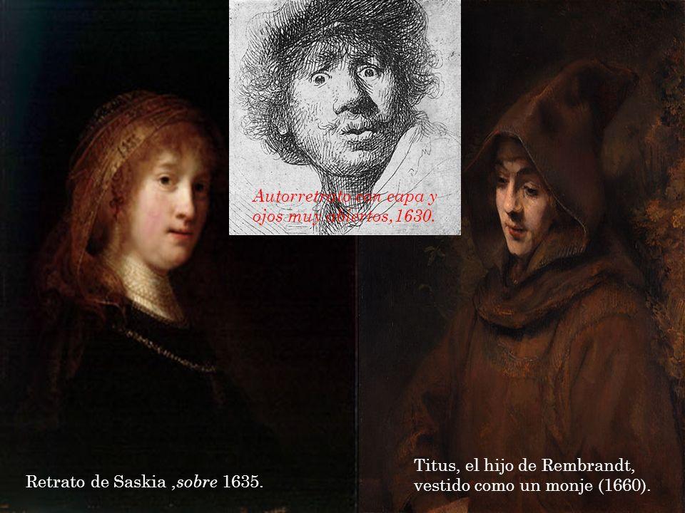 Autorretrato con capa y ojos muy abiertos,1630.