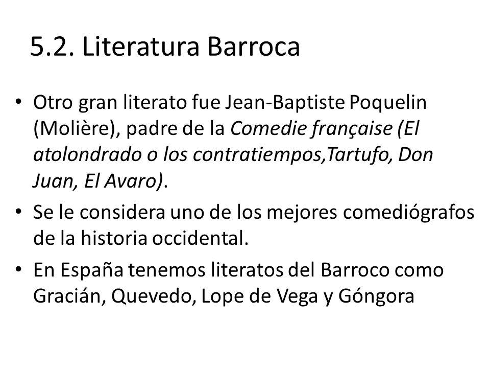 5.2. Literatura Barroca