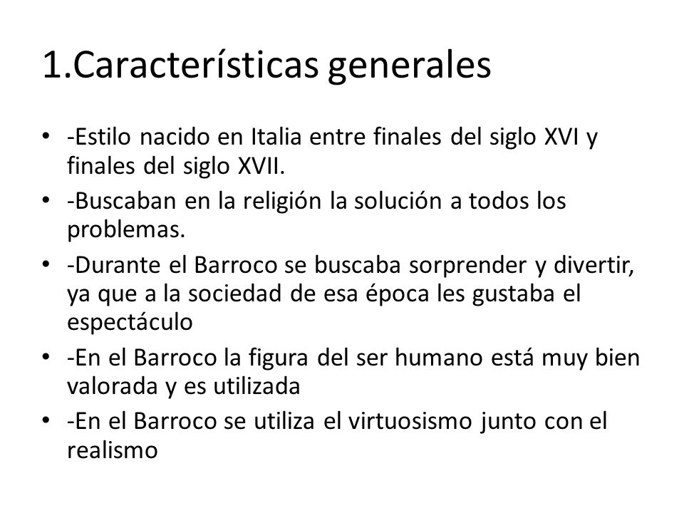 1.Características generales