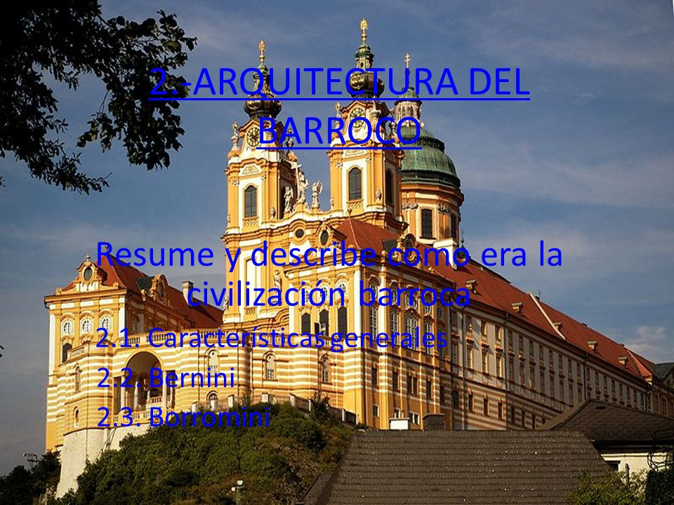 2.-ARQUITECTURA DEL BARROCO